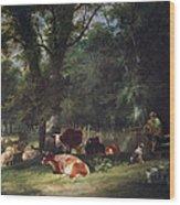 A Shady Corner Wood Print by William Snr. Shayer