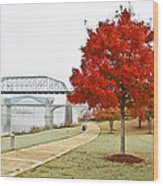 A Soft Autumn Day Wood Print by Tom and Pat Cory