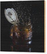 A Splash Of Coffee Wood Print by Randy Turnbow