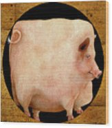 A Square Pig In A Round Hole... Wood Print by Will Bullas