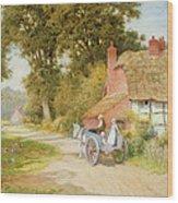 A Warwickshire Lane Wood Print by Arthur Claude Strachan