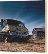 Abandoned Ford Van Wood Print by Cale Best
