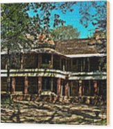 Abandoned Mansion Wood Print by Kristie  Bonnewell