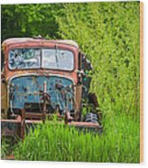 Abandoned Truck In Rural Michigan Wood Print by Adam Romanowicz