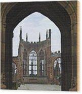 Abbey Ruin - Scotland Wood Print by Mike McGlothlen