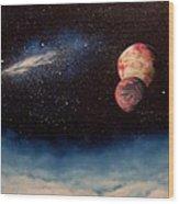 Above Alien Clouds Wood Print by Murphy Elliott