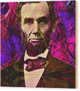 Abraham Lincoln 2014020502m68 Wood Print by Wingsdomain Art and Photography