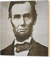 Abraham Lincoln Wood Print by Alexander Gardner