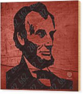 Abraham Lincoln License Plate Art Wood Print by Design Turnpike