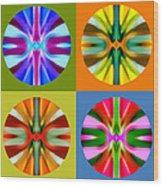 Abstract Circles And Squares 1 Wood Print by Amy Vangsgard