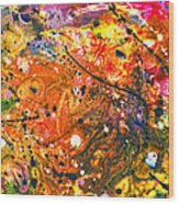 Abstract - Crayon - The Excitement Wood Print by Mike Savad