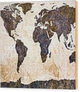 Abstract Earth Map Wood Print by Bob Orsillo