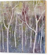 Abstract Forest Wood Print by Suzette Broad