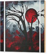 Abstract Gothic Art Original Landscape Painting Imagine By Madart Wood Print by Megan Duncanson