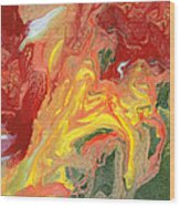 Abstract - Nail Polish - In A State Of Flux Wood Print by Mike Savad