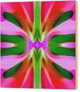 Abstract Pink Tree Symmetry Wood Print by Amy Vangsgard