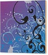 Abstract Swirl Wood Print by Mellisa Ward
