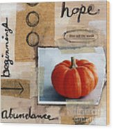 Abundance Wood Print by Linda Woods