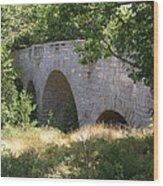 Acadia Bridge Wood Print by James Graves