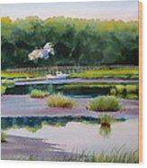 Across Duck Creek Wood Print by Karol Wyckoff