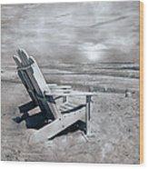 Adirondack Sunrise Topsail Island Wood Print by Betsy Knapp