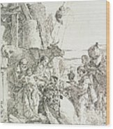 Adoration Of The Magi Wood Print by Giovanni Battista Tiepolo