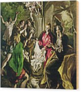 Adoration Of The Shepherds Wood Print by El Greco Domenico Theotocopuli