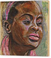 African American 3 Wood Print by Xueling Zou