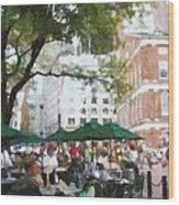 Afternoon At Faneuil Hall Wood Print by Jeff Kolker