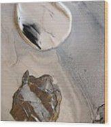 Agate Beach Wood Print by Sharon Jones