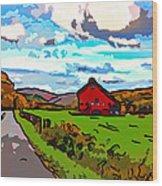 Ah...west Virginia Line Art Wood Print by Steve Harrington