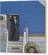 Air Force One Wood Print by Jim West