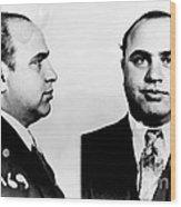 Al Capone Mug Shot Wood Print by Edward Fielding