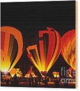 Albuquerque Balloon Festival Wood Print by Mark Newman