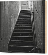 Alcatraz Hospital Stairs Wood Print by RicardMN Photography