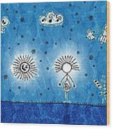 Alien Blue Wood Print by Gianfranco Weiss