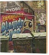 Alley Graffiti Wood Print by Stuart Litoff