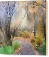 Alpine Aspens 9 Wood Print by Barbara D Richards