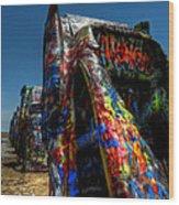 Amarillo -  Cadillac Ranch 006 Wood Print by Lance Vaughn