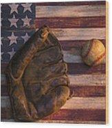 American Baseball Wood Print by Garry Gay