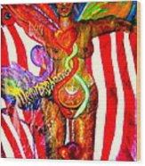 American Dream Metamorphosis Wood Print by Shakti Brien
