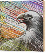 American Eagle Wood Print by Bedros Awak