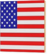 American Flag Wood Print by Toppart Sweden