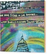 American Rainbow Wood Print by Tony B Conscious