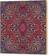Americana Swirl Banner 1 Wood Print by Sarah Loft