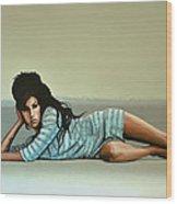 Amy Winehouse 2 Wood Print by Paul Meijering