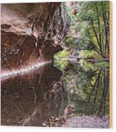 An Autumn Day In West Fork  Wood Print by Saija  Lehtonen