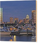 An Evening On The Charles Wood Print by Joann Vitali