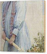An Italian Peasant Girl Wood Print by Ada M Shrimpton