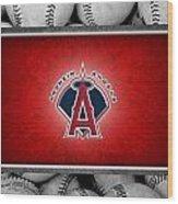 Anaheim Angels Wood Print by Joe Hamilton
